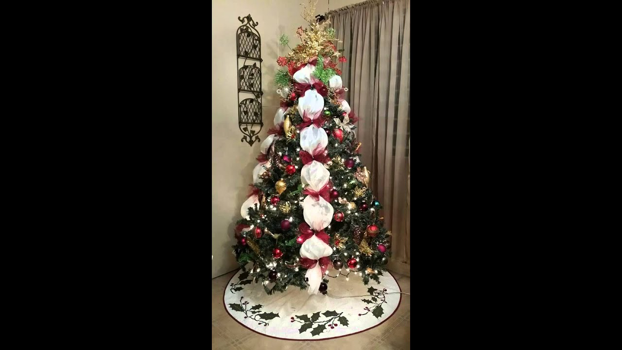 How To Make A Victorian Dress Form Christmas Tree 2015 - YouTube