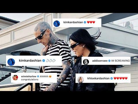 Kourtney Kardashian and Travis Barker Engaged! Famous Family, Friends REACT