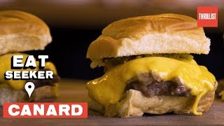 White Castle-Style Burgers & Foie Gras On One Menu || Eat Seeker: Canard