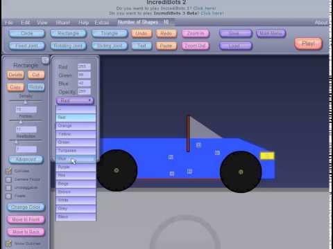 Incredibots blue car build