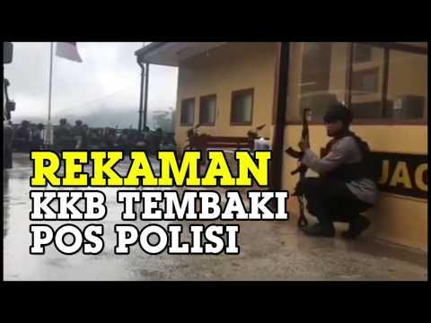 SUASANA MENCEKAM Rekaman KKB Tembaki Markas Polisi Di Papua