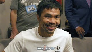 MANNY PACQUIAO'S FULL GRAND ARRIVAL MEDIA ROUNDTABLE FOR HIS KEITH THURMAN FIGHT