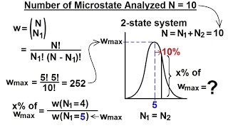 Physics 32.5 Statistical Thermodynamics (9 Of 39) Number Of Microstates Analyzed N=10