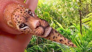 3D ACRYLIC LEOPARD FACE - AMAZING PHOTOREALISTIC NAIL ART