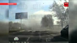 Как взорвался автобус в Волгограде ВИДЕОРЕГИСТРАТОР  приколы 2013