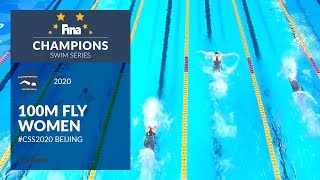 100m Fly Women | Beijing Day 1 | FINA Champions Swim Series 2020
