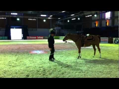 Black Leo - Trick roping with horse