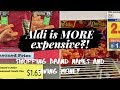 Aldi is MORE expensive? Shopping brand names and SAVING money!