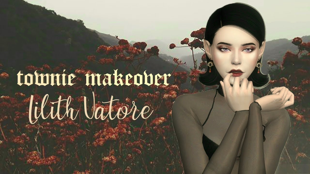 TOWNIE MAKEOVER LILITH VATORE & FULL CC LIST + SIM DOWNLOAD | The Sims 4:  Create a Sim by fearytea
