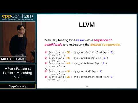 "CppCon 2017: Michael Park ""MPark.Patterns: Pattern Matching in C"""