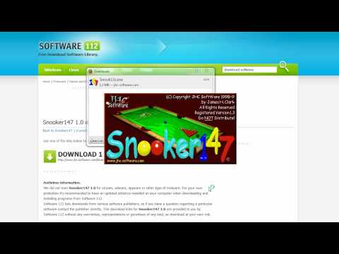 Snooker147, great PC snooker game