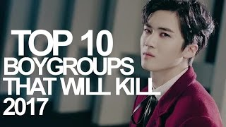 top 10 kpop boy groups that will kill 2017 by votes