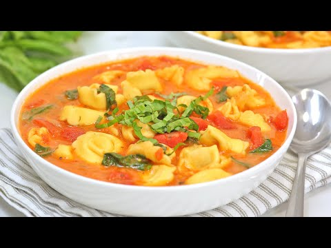 Creamy Tomato & Tortellini Soup | 20 Minute Dinner Recipe