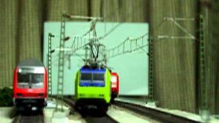 Europe Rail  Modelleisenbahn HO BLS- Cargo Re485 Neu-Euro E-Lok   Ankuft Basel DB