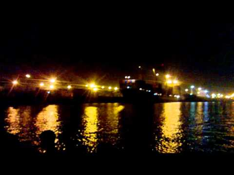 Night view of Chittagong Port and Karnaphuli River