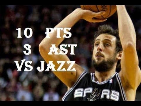Marco Belinelli 10 Pts 3 Ast Utah Jazz vs San Antonio Spurs