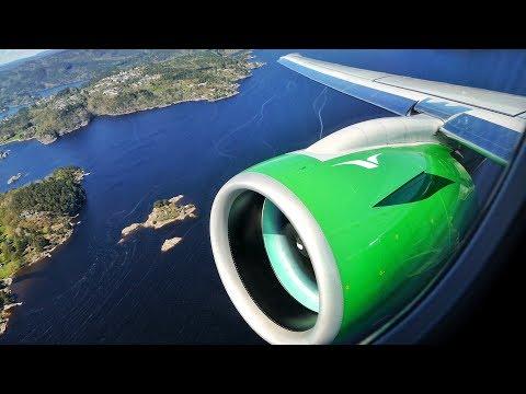 EMBRAER E2! BRAND NEW Widerøe E190-E2 Take Off from Kristiansand