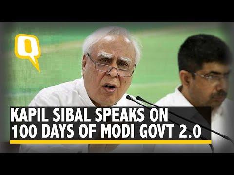 Kapil Sibal on 100 days of Modi Govt 2.0, Kashmir Lockdown, NRC and More   The Quint