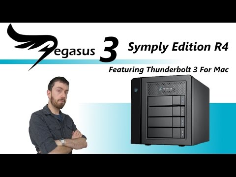 The Promise Pegasus3 12TB Mac OS Edition R4 4-Bay RAID Tower F40P3R400000001 Unboxing