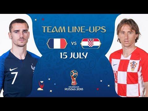 98657280d LINEUPS – FRANCE v CROATIA - 2018 FIFA World Cup™ FINAL - YouTube