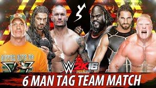 WWE 2K16 - John Cena. Randy Orton. Roman Reigns vs Brock Lesnar. Seth Rollins. Mark Henry