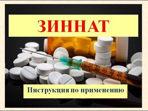 Таблетки Зиннат: Инструкция по применению