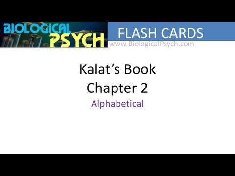 Flash Cards For Kalat's Biological Psychology (Chapter 2)