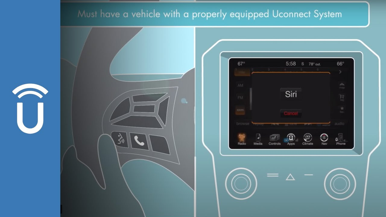 Fiat-Chrysler Offers Apple Siri Hands Free Through Uconnect Software