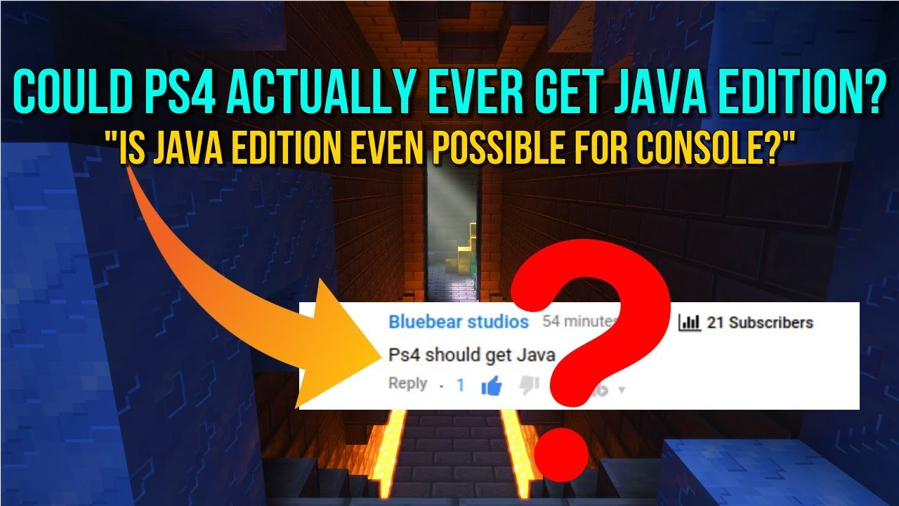 Minecraft PS11 - COULD WE EVER ACTUALLY GET JAVA EDITION? - Is PS11 Java  Edition Possible For Console?