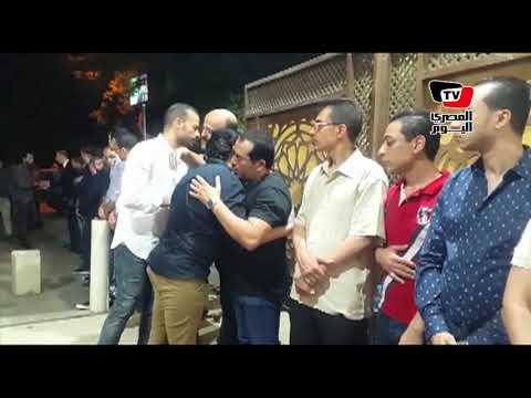 ماجد المصري وا?حمد سلامه في عزاء الفنان ماهر عصام  - 22:22-2018 / 6 / 18