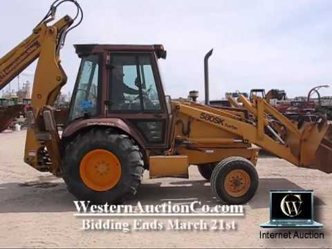 Case 580 Backhoe >> Case 580 Turbo Super-K Loader Backhoe | Idaho Backhoe Auction - YouTube