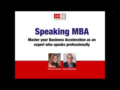 Speaking MBA Master Your Business Acceleration