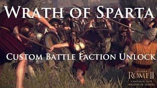 Rome 2 Wrath of Sparta Custom Battle Faction Unlock Mod