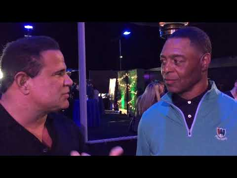 Keith Middlebrook and NFL Hall of Game Legend, Marcus Allen.