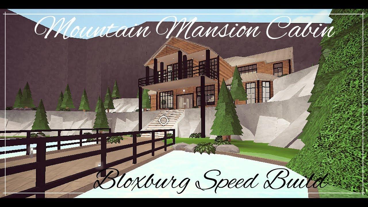 Bloxburg gorgeous mountain mini mansion speed build for Time to build a house