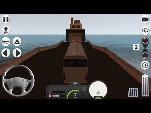 Coach Bus Simulator Gameplay Taking Ferry Boat |