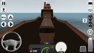 Coach Bus Simulator Gameplay Taking Ferry Boat