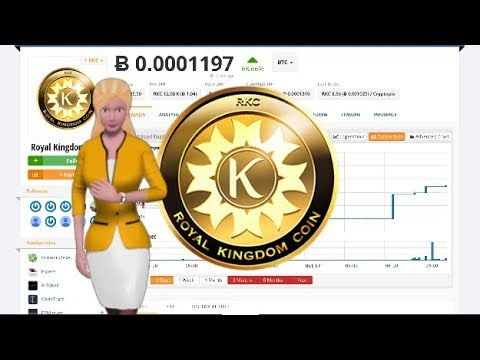 Cryptocurrency Royal Kingdom Coin $RKC Soars 68% During the Last Day