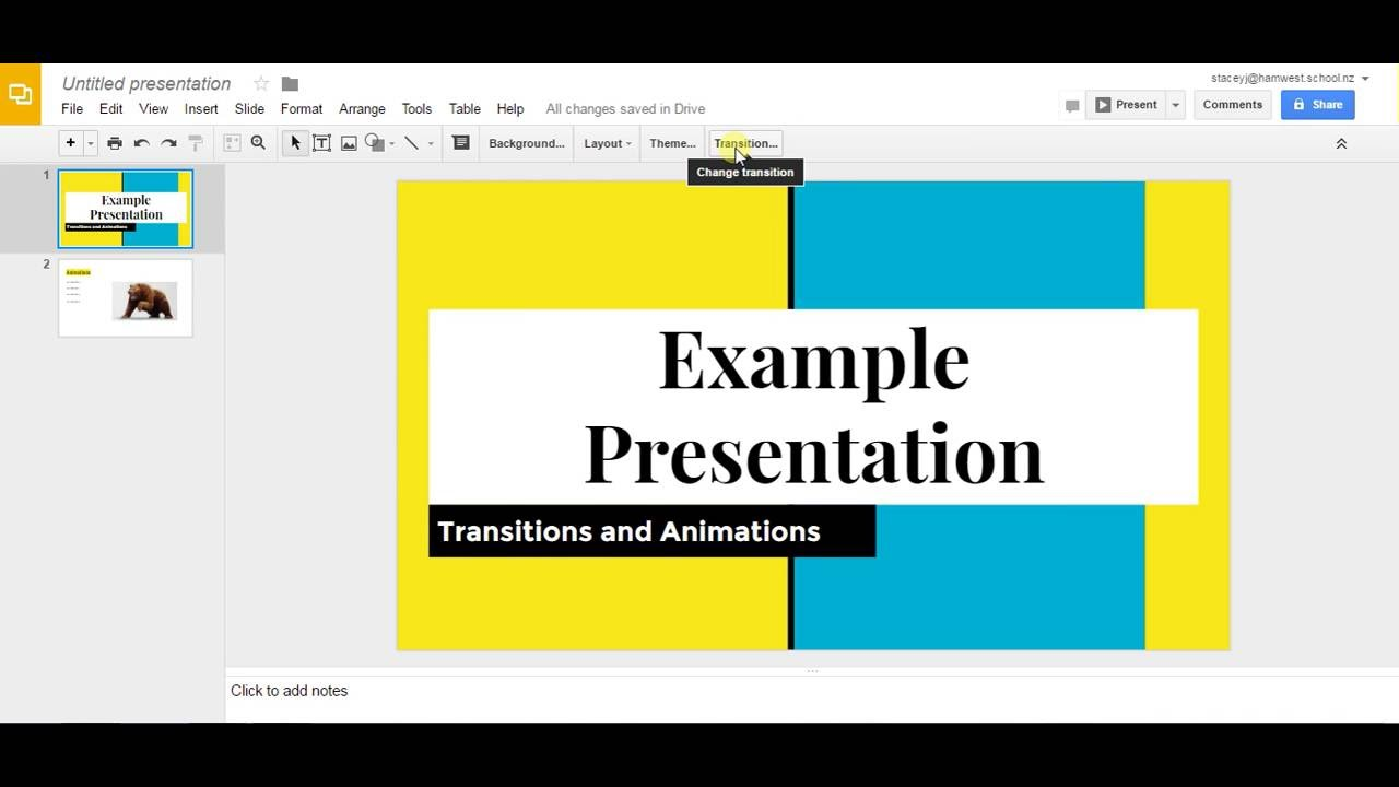 Google Slides-Add transitions and animations