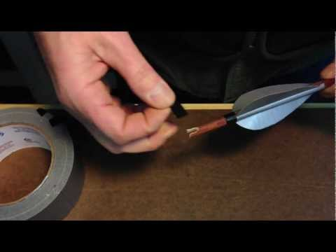 Another way to do duct tape fletching.