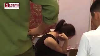 Cô giáo 'tâm sự' với CSGT trong nhà nghỉ ở Thanh Hóa. Nguồn Người đưa tin