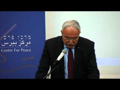 Dr. Riyad al- Malki, Palestinian Foreign Minister Speaks of Terms to Reach an Agreement