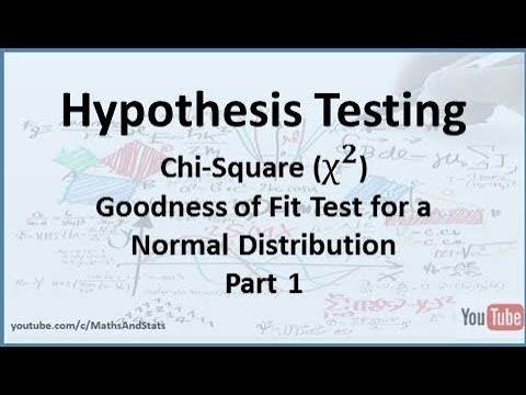 Hypothesis Testing By Hand: A Chi-Square Goodness Of Fit Test For A Normal Distribution - Part 1