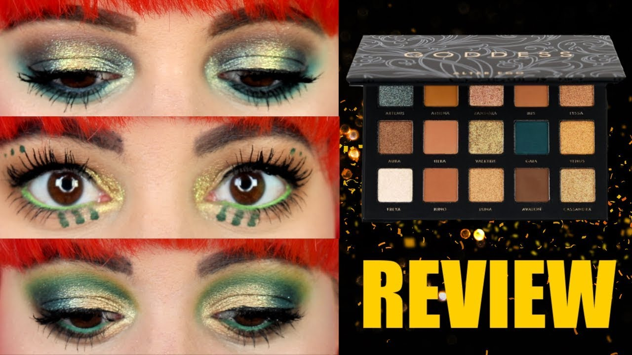 Alter Ego Goddess palette   3 looks and REVIEW