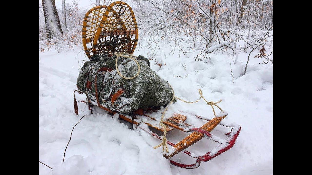 Snow Bushcraft - Winter Camping Sled - YouTube