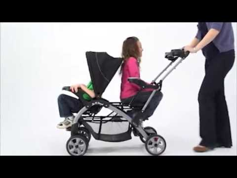 Baby Trend Sit N Stand Double Stroller Youtube