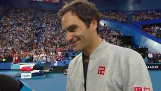 Roger Federer on-court interview (RR) | Mastercard Hopman Cup 2019