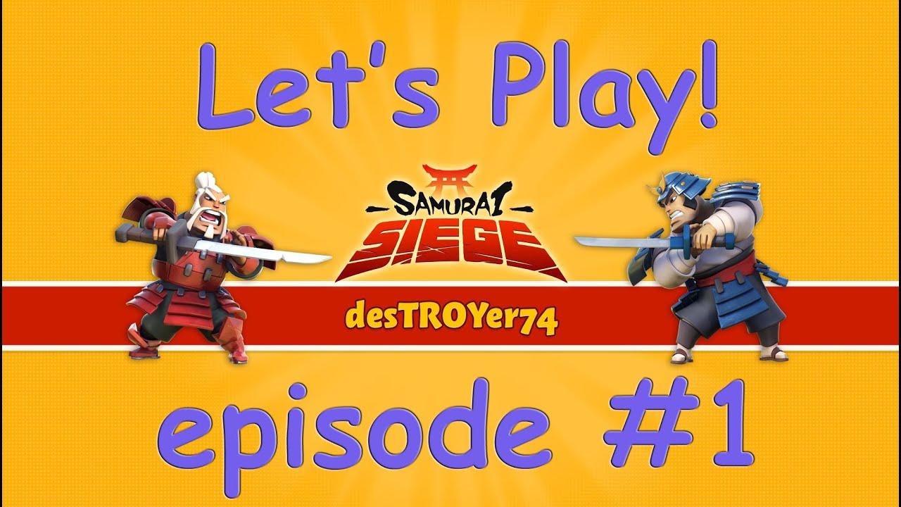 samurai siege lets play episode 1 budget castle 9 attacks youtube