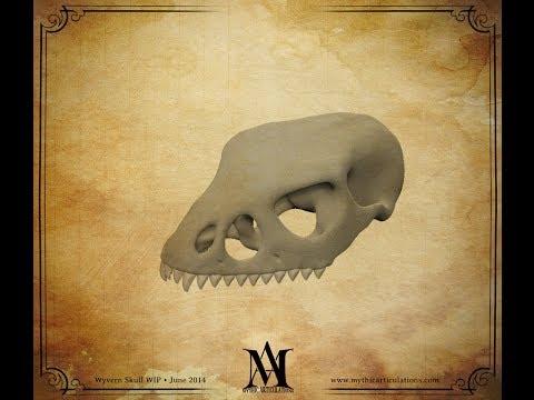 Wyvern Skull Sculpt