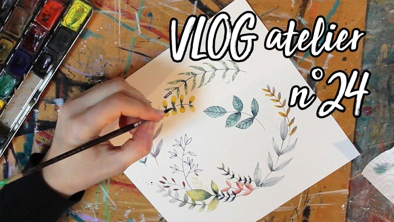 VLOG Atelier N°24 : Démo Fleurs à Lu0027aquarelle + Toise Pour Chambre Du0027enfant